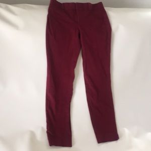 Sloan fit burgundy pants